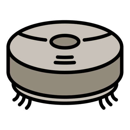 Robot vacuum cleaner icon. Outline robot vacuum cleaner vector icon for web design isolated on white background