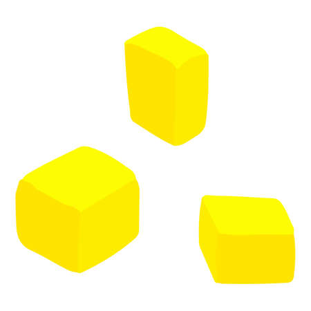 Pineapple cubes icon. Isometric of pineapple cubes vector icon for web design isolated on white background