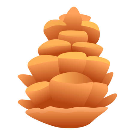 Winter pine cone icon. Cartoon of winter pine cone vector icon for web design isolated on white background 일러스트