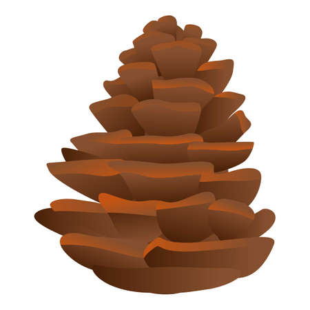 Firtree pine cone icon. Cartoon of firtree pine cone vector icon for web design isolated on white background Ilustração