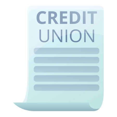 Credit union paper icon. Cartoon of credit union paper vector icon for web design isolated on white background Ilustração