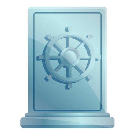 Credit union money safe icon. Cartoon of credit union money safe vector icon for web design isolated on white background