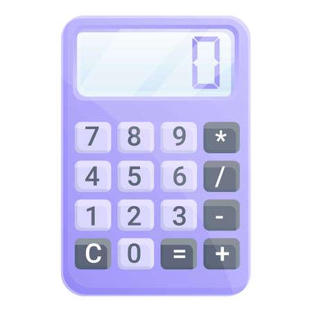 Money calculator icon. Cartoon of money calculator vector icon for web design isolated on white background Illustration