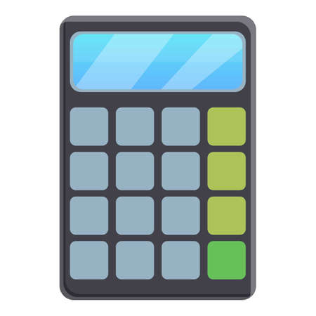 Lesson calculator icon. Cartoon of lesson calculator vector icon for web design isolated on white background