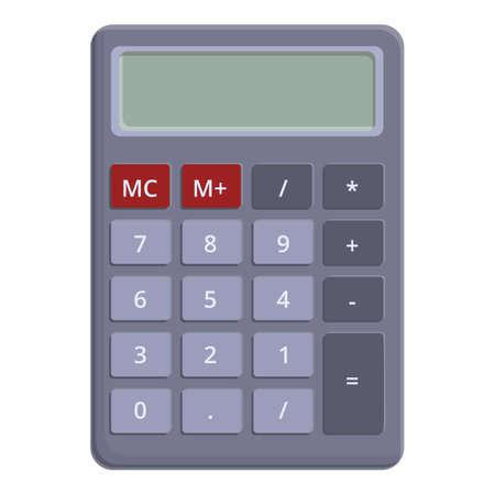 School calculator icon. Cartoon of school calculator vector icon for web design isolated on white background Vector Illustratie