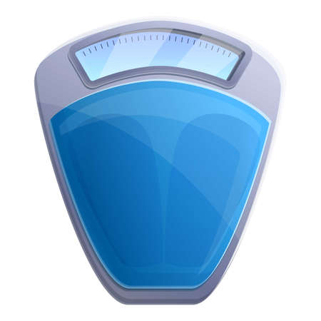 Fitness scales icon. Cartoon of fitness scales vector icon for web design isolated on white background