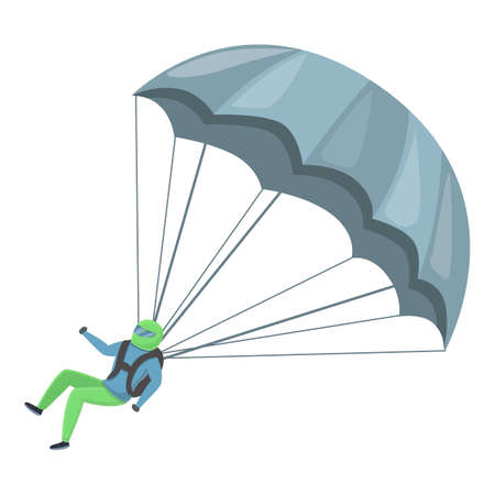 Sport parachuting icon. Cartoon of sport parachuting vector icon for web design isolated on white background