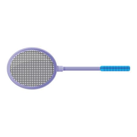 Badminton racket icon. Cartoon of badminton racket vector icon for web design isolated on white background