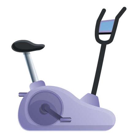 Exercise bike icon. Cartoon of exercise bike vector icon for web design isolated on white background