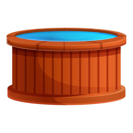 Healthy tub icon. Cartoon of healthy tub vector icon for web design isolated on white background Vektorgrafik