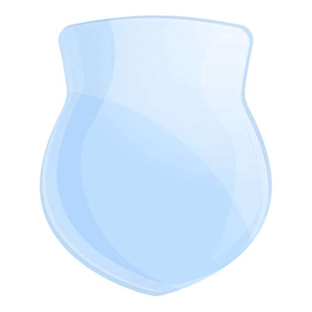 Protect glass icon. Cartoon of protect glass vector icon for web design isolated on white background
