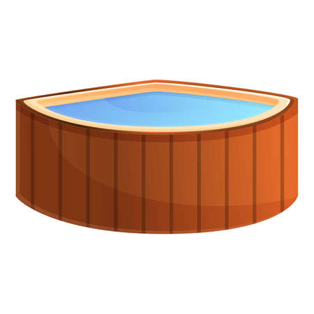 Water tub icon. Cartoon of water tub vector icon for web design isolated on white background Stock Illustratie