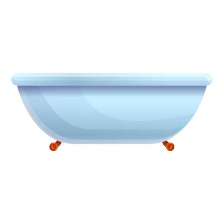Water bathtub icon. Cartoon of water bathtub vector icon for web design isolated on white background Stock Illustratie