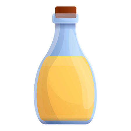 oil bottle icon. Cartoon of  oil bottle vector icon for web design isolated on white background