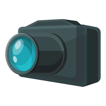 Investigator camera icon. Cartoon of investigator camera vector icon for web design isolated on white background