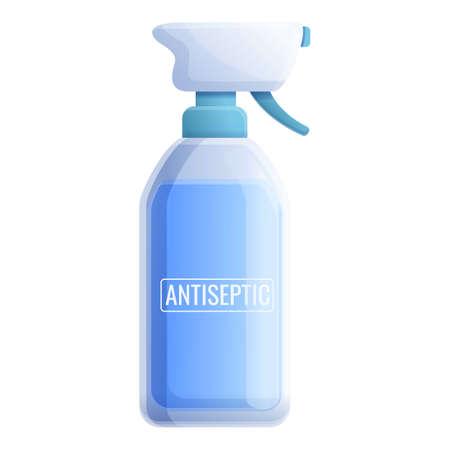 Antiseptic spray bottle icon. Cartoon of antiseptic spray bottle vector icon for web design isolated on white background 矢量图像