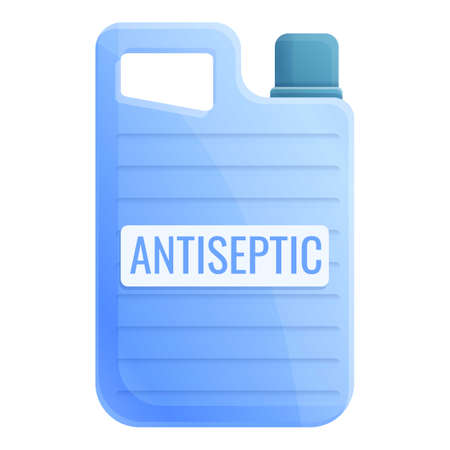 Antiseptic canister icon. Cartoon of antiseptic canister vector icon for web design isolated on white background