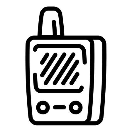 Walkie talkie icon. Outline walkie talkie vector icon for web design isolated on white background 向量圖像