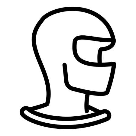 Balaclava icon. Outline balaclava vector icon for web design isolated on white background