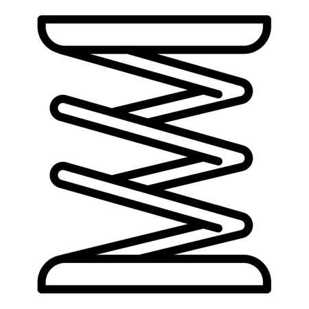 Suspension coil icon. Outline suspension coil vector icon for web design isolated on white background Ilustração