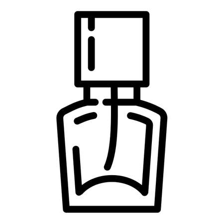 Perfume icon. Outline perfume vector icon for web design isolated on white background