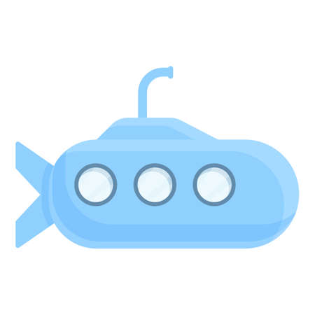 Remote control submarine toy icon. Cartoon of remote control submarine toy vector icon for web design isolated on white background