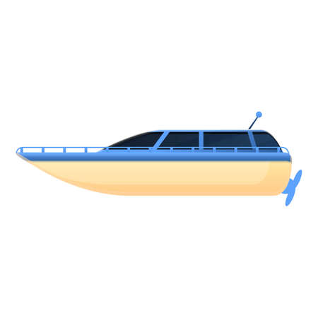 Boat toy remote control icon. Cartoon of boat toy remote control vector icon for web design isolated on white background Ilustrace