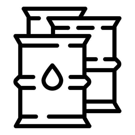 Oil steel barrels icon. Outline oil steel barrels vector icon for web design isolated on white background Illusztráció