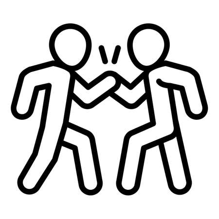 People cohesion icon. Outline people cohesion vector icon for web design isolated on white background