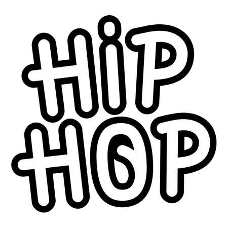 Hiphop wall paint icon. Outline hiphop wall paint vector icon for web design isolated on white background