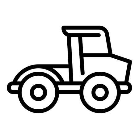 Farm bulldozer icon. Outline farm bulldozer vector icon for web design isolated on white background
