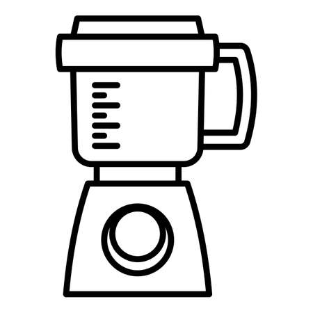 Modern food processor icon. Outline modern food processor vector icon for web design isolated on white background