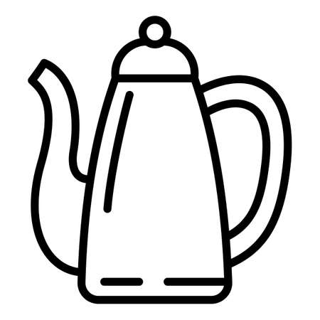 Turkish coffee pot icon. Outline turkish coffee pot vector icon for web design isolated on white background
