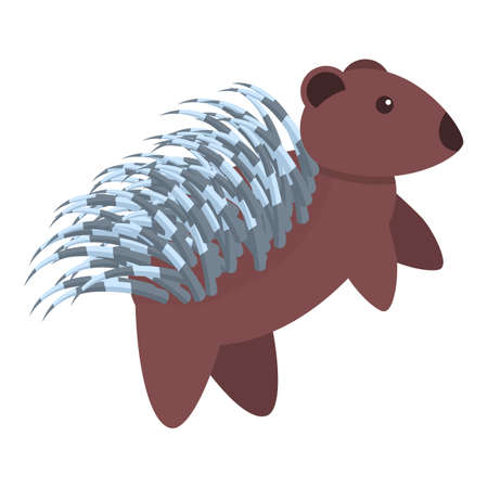 Porcupine wild icon. Cartoon of porcupine wild vector icon for web design isolated on white background Ilustrace
