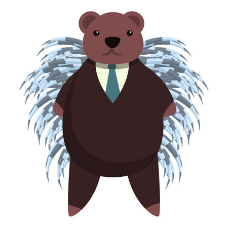 Elegant porcupine icon. Cartoon of elegant porcupine vector icon for web design isolated on white background