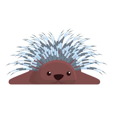 Porcupine resting icon. Cartoon of porcupine resting vector icon for web design isolated on white background Vektorgrafik