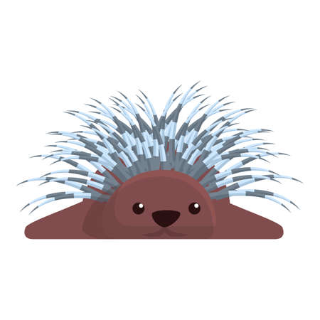 Porcupine resting icon. Cartoon of porcupine resting vector icon for web design isolated on white background