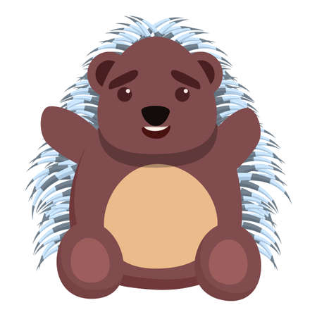 Kid porcupine icon. Cartoon of kid porcupine vector icon for web design isolated on white background Ilustrace