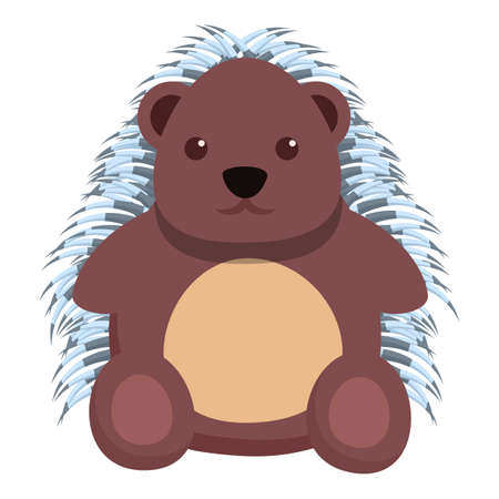 Adorable porcupine icon. Cartoon of adorable porcupine vector icon for web design isolated on white background