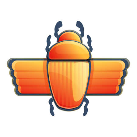 Scarab icon. Cartoon of scarab vector icon for web design isolated on white background