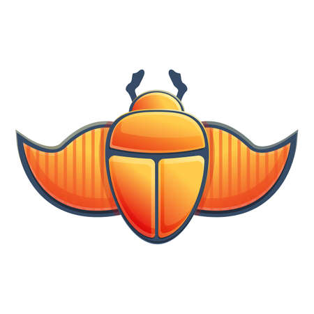 Wings scarab beetle icon. Cartoon of wings scarab beetle vector icon for web design isolated on white background Illusztráció