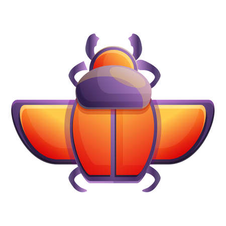 History scarab beetle icon. Cartoon of history scarab beetle vector icon for web design isolated on white background