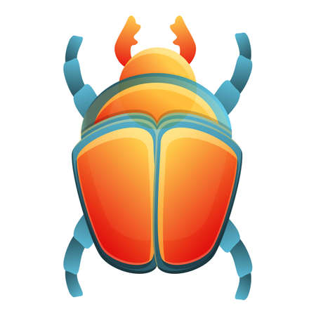 Pharaoh scarab beetle icon. Cartoon of pharaoh scarab beetle vector icon for web design isolated on white background