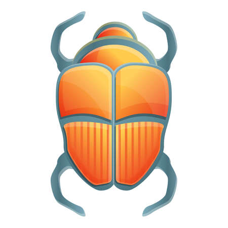 Ancient scarab beetle icon. Cartoon of ancient scarab beetle vector icon for web design isolated on white background