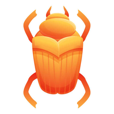 Culture scarab beetle icon. Cartoon of culture scarab beetle vector icon for web design isolated on white background
