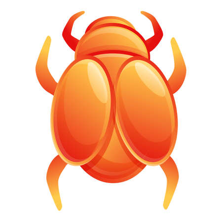 Bug scarab beetle icon. Cartoon of bug scarab beetle vector icon for web design isolated on white background