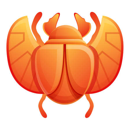 Sun scarab beetle icon. Cartoon of sun scarab beetle vector icon for web design isolated on white background