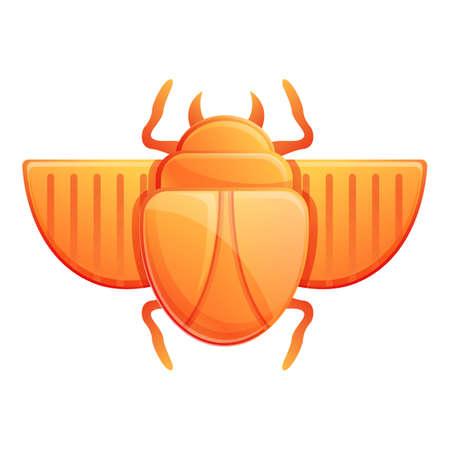 Treasure scarab beetle icon. Cartoon of treasure scarab beetle vector icon for web design isolated on white background