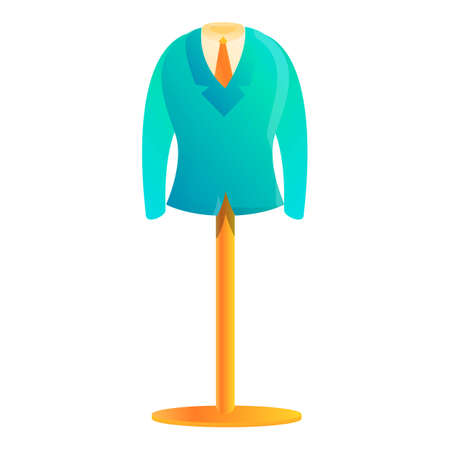 Clothes production stand icon. Cartoon of clothes production stand vector icon for web design isolated on white background