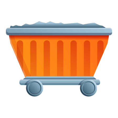 Metallurgy cart icon. Cartoon of metallurgy cart vector icon for web design isolated on white background